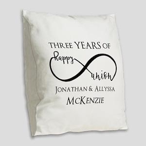 Custom Anniversary Years and N Burlap Throw Pillow