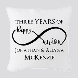 Custom Anniversary Years and N Woven Throw Pillow