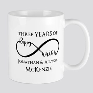 Custom Anniversary Years and Names Infi Mug