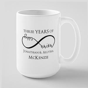Custom Anniversary Years and Names Infi Large Mug