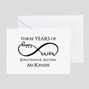 Custom Anniversary Years and Names I Greeting Card