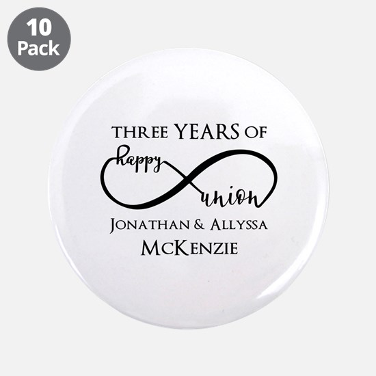 "Custom Anniversary Years and 3.5"" Button (10 pack)"