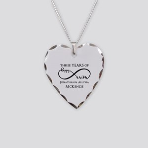 Custom Anniversary Years and Necklace Heart Charm