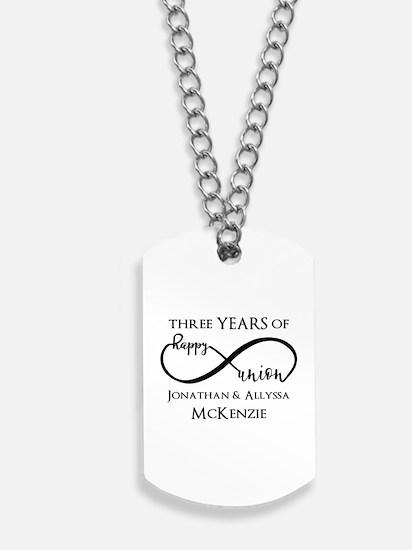 Custom Anniversary Years and Names Infini Dog Tags