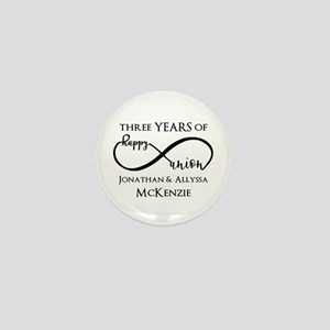 Custom Anniversary Years and Names Inf Mini Button