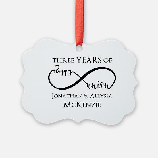 Custom Anniversary Years and Name Ornament