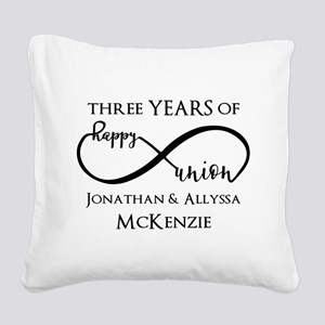 Custom Anniversary Years and Square Canvas Pillow