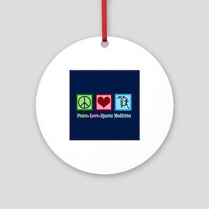 Sports Medicine Doctor Round Ornament