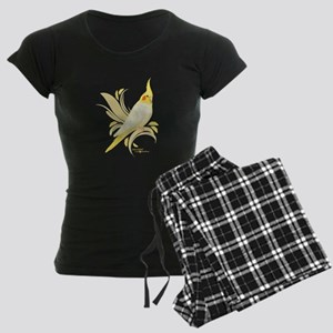 Lutino Cockatiel Women's Dark Pajamas