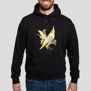 Lutino Cockatiel Hoodie (dark)