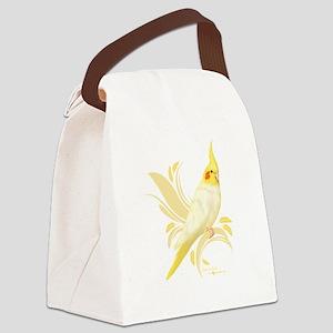 Lutino Cockatiel Canvas Lunch Bag