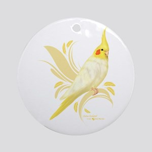 Lutino Cockatiel Round Ornament