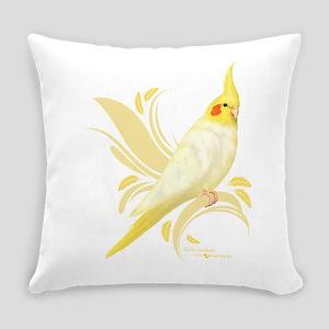 Lutino Cockatiel Everyday Pillow