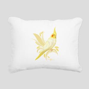 Lutino Cockatiel Rectangular Canvas Pillow