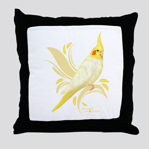 Lutino Cockatiel Throw Pillow