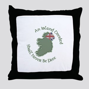 An Island Divided Throw Pillow