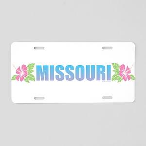 Missouri Design Aluminum License Plate