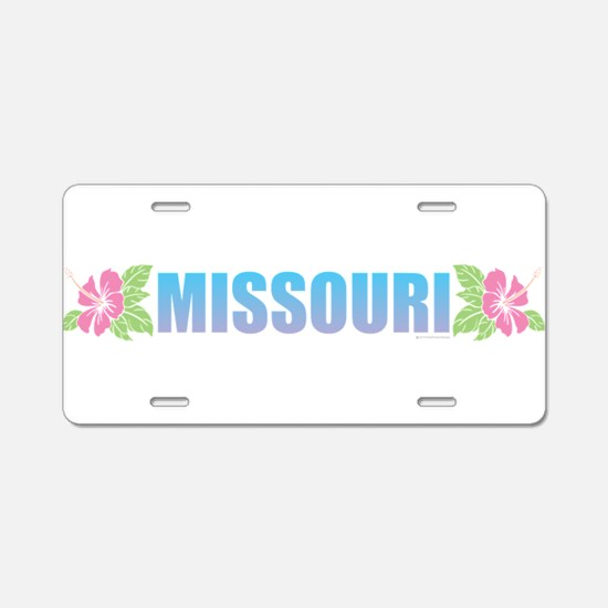 Missouri Design Aluminum License Plate