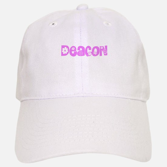 Deacon Pink Flower Design Cap
