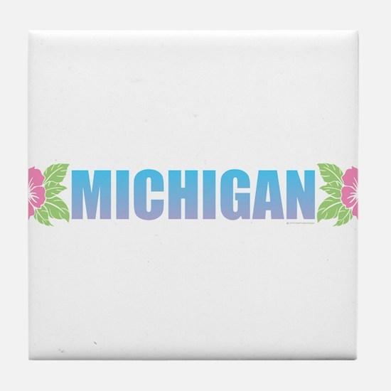 Michigan Design Tile Coaster