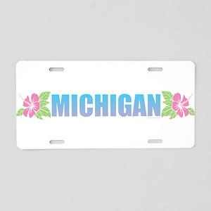 Michigan Design Aluminum License Plate