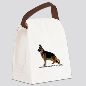 German Shepherd Dog Canvas Lunch Bag