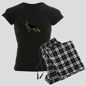 German Shepherd Dog Women's Dark Pajamas
