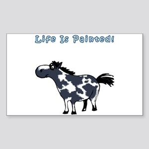 Life Is Painted! Paint Horse. Sticker (Rectangular