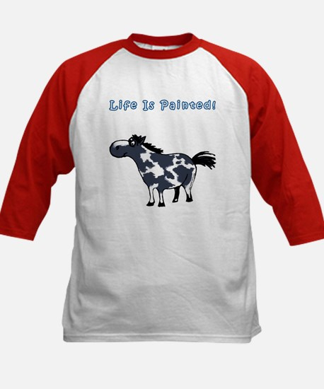 Life Is Painted! Paint Horse. Kids Baseball Jersey