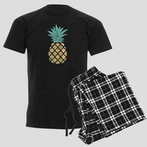 Golden Pineapple Men's Dark Pajamas