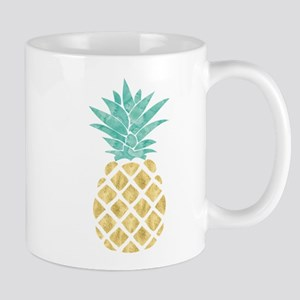 Golden Pineapple Mugs