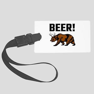 Beer! Large Luggage Tag
