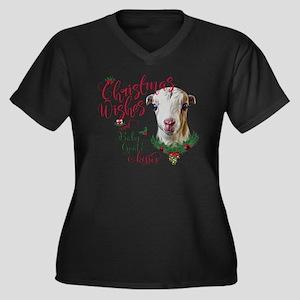 Christmas Wi Women's Plus Size V-Neck Dark T-Shirt