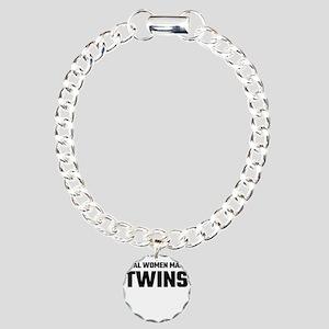 Real Women Make Twins Charm Bracelet, One Charm