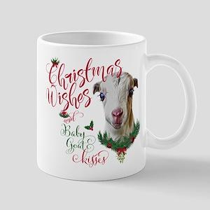 Christmas Wishes Baby Goat Kisse 11 oz Ceramic Mug