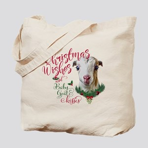 Christmas Wishes Baby Goat Kisses - LaMan Tote Bag