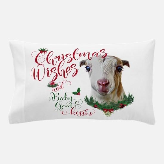 Christmas Wishes Baby Goat Kisses - La Pillow Case