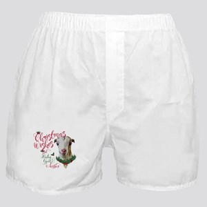 Christmas Wishes Baby Goat Kisses - L Boxer Shorts