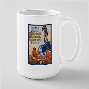 WWI Signal Corps Army Propaganda Large Mug