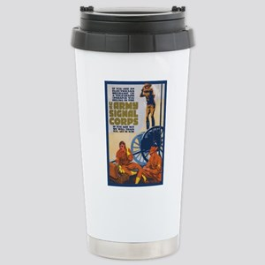 WWI Signal Corps Army P Stainless Steel Travel Mug