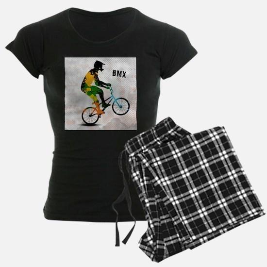 BMX Rider with Abstract Pain Pajamas