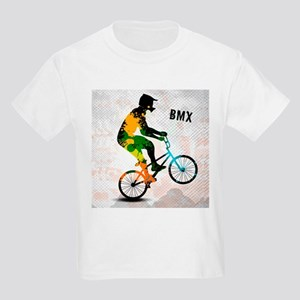 BMX Rider with Abstract Paint Splotches Co T-Shirt