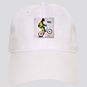 BMX Rider with Abstract Paint Splotches Colori Cap