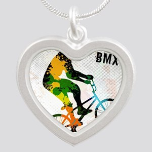 BMX Rider with Abstract Paint Splotches Necklaces