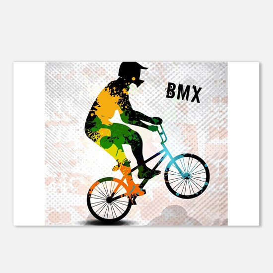 BMX Rider with Abstract P Postcards (Package of 8)