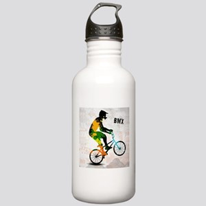 BMX Rider with Abstrac Stainless Water Bottle 1.0L