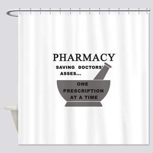 pharmacy saving doctors Shower Curtain