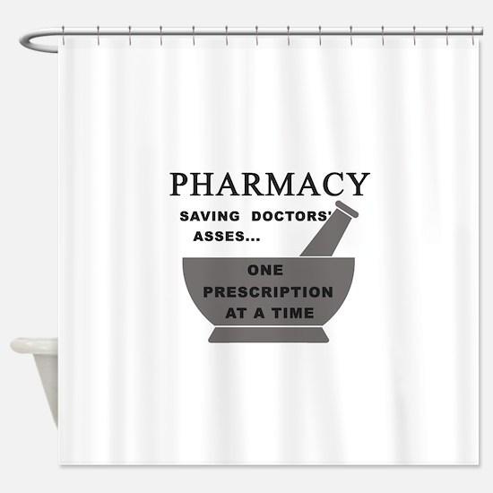 pharmacy saving doctors Shower Curtain