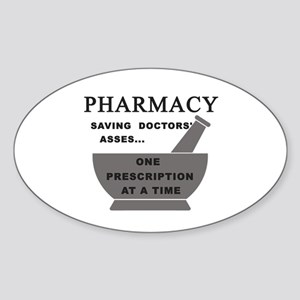 pharmacy saving doctors Sticker (Oval)