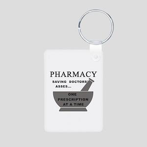 pharmacy saving doctors Aluminum Photo Keychain